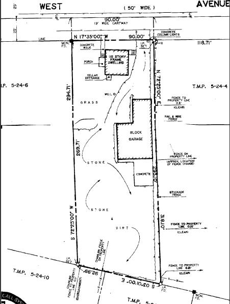 3000 B West Ave Bristol PA – Site Plot Plan